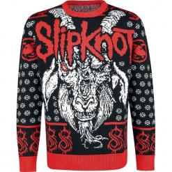 Slipknot Holiday Sweater 2018 Sweter z dzianiny czarny/czerwony/biały. Białe swetry klasyczne męskie Slipknot, s, z dzianiny, z okrągłym kołnierzem. Za 264,90 zł.
