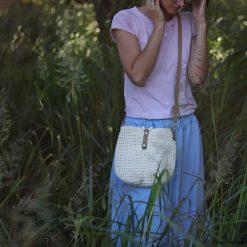 Kremowa torebka ze sznurka Becca limitowana M. Białe torebki klasyczne damskie Pakamera. Za 150,00 zł.
