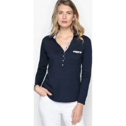 Bluzki damskie: Koszulka polo z długim rękawem