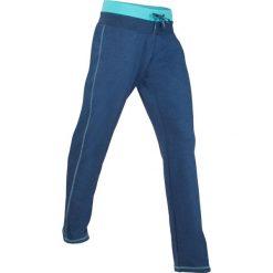 Spodnie sportowe, długie, Level 1 bonprix kobaltowy melanż. Zielone spodnie sportowe damskie marki bonprix, w kropki, z kopertowym dekoltem, kopertowe. Za 74,99 zł.