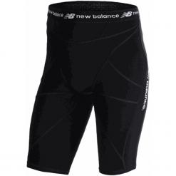 Szorty kompresyjne - MS710139BK. Czarne spodenki sportowe męskie marki New Balance, m, z materiału, na fitness i siłownię. W wyprzedaży za 129,99 zł.