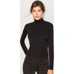 Cienki sweter z golfem - Czarny. Czarne golfy damskie Mohito, l. Za 49,99 zł.