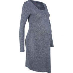 Sukienka shirtowa ciążowa i do karmienia piersią bonprix indygo melanż. Niebieskie sukienki ciążowe marki bonprix, melanż, z okrągłym kołnierzem, moda ciążowa, dopasowane. Za 74,99 zł.