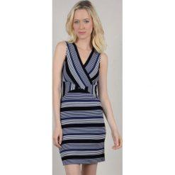 Sukienki: Prosta sukienka, z nadrukiem, krótka, cienkie ramiączka