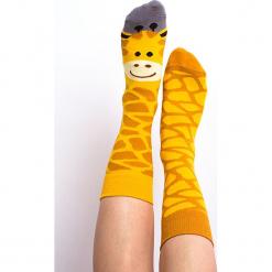 Nanushki - Skarpetki Gigi Giraffe. Białe skarpetki męskie marki Nanushki, z bawełny. Za 24,90 zł.
