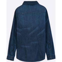 Guess Jeans - Koszula dziecięca 118-176 cm. Szare koszule chłopięce z długim rękawem marki Guess Jeans, l, z aplikacjami, z bawełny. W wyprzedaży za 189,90 zł.
