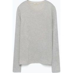 Swetry klasyczne męskie: Sweter w kolorze jasnoszarym
