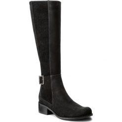 Kozaki MACCIONI - 608 Czarny/Srebrny. Czarne buty zimowe damskie marki Maccioni, z materiału, przed kolano, na wysokim obcasie, na obcasie. W wyprzedaży za 379,00 zł.