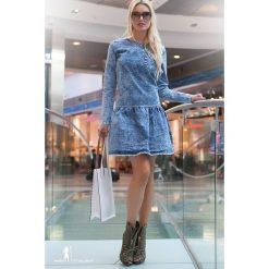 Sukienka Jeansowa LB4077. Szare sukienki Fasardi, z jeansu. Za 59,00 zł.