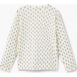 Mango Kids - Sweter dziecięcy Bindi 110-164 cm. Szare swetry dziewczęce Mango Kids, z bawełny, z okrągłym kołnierzem. W wyprzedaży za 49,90 zł.