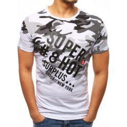 T-shirty męskie z nadrukiem: T-shirt męski z nadrukiem biały (rx2747)