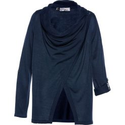 Sweter rozpinany bonprix ciemnoniebieski. Zielone kardigany damskie marki bonprix, w kropki, z kopertowym dekoltem, kopertowe. Za 99,99 zł.