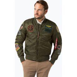 Alpha Industries - Kurtka męska, zielony. Czarne kurtki męskie marki Alpha Industries, m, z aplikacjami. Za 899,95 zł.