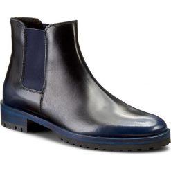 Sztyblety GINO ROSSI - Nevia DSH052-R81-QW00-5700-F 59. Niebieskie buty zimowe damskie marki Gino Rossi, ze skóry, na obcasie. W wyprzedaży za 289,00 zł.