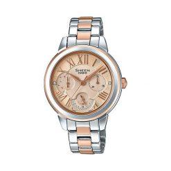 Zegarki damskie: Zegarek Sheen Damski SHE-3059SPG-9AUER Swarovski srebrny