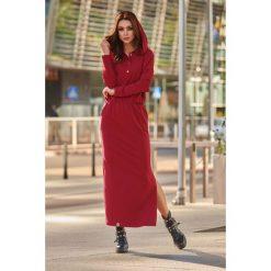 Dresowa sukienka maxi z kapturem bordo. Czarne długie sukienki marki Sinsay, l, z kapturem. Za 159,90 zł.