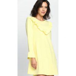 Żółta Sukienka Female. Żółte sukienki letnie marki Born2be, s, mini. Za 54,99 zł.