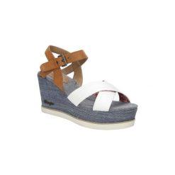 Sandały Wrangler  Sandały na koturnie  Jeena Indigo WL171680. Niebieskie sandały damskie Wrangler, na koturnie. Za 208,99 zł.