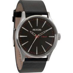 Zegarki męskie: Zegarek męski Black Nixon Sentry Leather A1051000