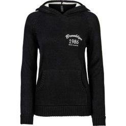 Sweter z kapturem bonprix czarno-biel wełny. Szare swetry klasyczne damskie marki Reserved, m, z kapturem. Za 89,99 zł.