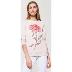Bluzy rozpinane damskie: Bluza z kwiatowym nadrukiem - Różowy