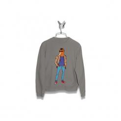 Bluza Elegant BoJack Męska. Szare bluzy męskie marki Button. Za 160,00 zł.