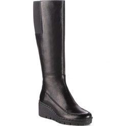 Buty zimowe damskie: Kozaki GEOX - D Wiva Wedge E D849VE 00081 C9999 Black