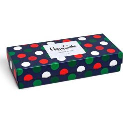 Happy Socks - Skarpety Holiday Big Dot Gift Box (4-pak). Szare skarpetki męskie Happy Socks, z bawełny. W wyprzedaży za 99,90 zł.