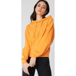 Bluzy damskie: NA-KD Basic Bluza z kapturem basic – Orange