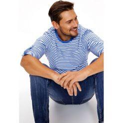 T-SHIRT W PASKI Z DŁUGIM RĘKAWEM. Szare t-shirty męskie Top Secret, na lato, m, w paski. Za 29,99 zł.