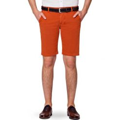 Spodenki Pomarańczowe Atlantico. Brązowe szorty męskie marki LANCERTO, na lato, z bawełny. W wyprzedaży za 199,90 zł.