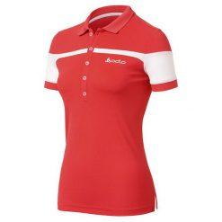 Odlo Koszulka damska Polo shirt s/s LIA biało-czerwona r. M  (221231). Bluzki asymetryczne Odlo, m, polo. Za 86,69 zł.