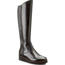 Kozaki EDEO - 2259-465/720 Czarny/Srebrny. Czarne buty zimowe damskie Edeo, ze skóry. W wyprzedaży za 339,00 zł.
