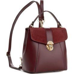 Plecak CREOLE - K10419 Bordo. Czerwone plecaki damskie Creole, ze skóry. W wyprzedaży za 219,00 zł.