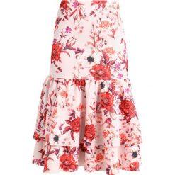 Spódniczki trapezowe: True Violet LAYERED FRILL MIDI SKIRT Spódnica trapezowa blush/red