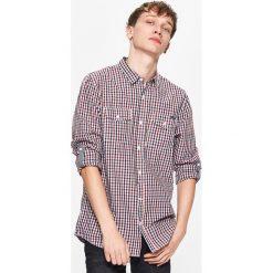 Koszule męskie: Koszula w drobną kratę – Czerwony