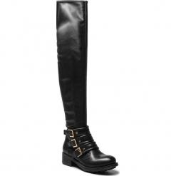 Muszkieterki GINO ROSSI - DK043M-TWO-BGSS-9999-0 99/99. Czarne buty zimowe damskie marki Gino Rossi, z materiału, na obcasie. W wyprzedaży za 439,00 zł.