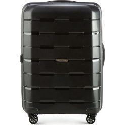 Walizka średnia 56-3T-722-10. Czarne walizki marki Wittchen, z gumy, średnie. Za 229,00 zł.