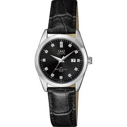 Zegarek Q&Q Damski QZ13-302 Klasyczny Cyrkonie czarny. Czarne zegarki damskie Q&Q. Za 115,80 zł.