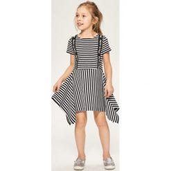 Sukienki dziewczęce: Sukienka w paski – Czarny