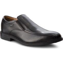 Półbuty CLARKS - Chilvergo Gtx GORE-TEX 261277447  Black Leather. Czarne półbuty skórzane męskie marki Kazar. W wyprzedaży za 279,00 zł.
