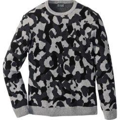 Swetry klasyczne męskie: Sweter z bawełny z recyclingu Slim Fit bonprix szary moro