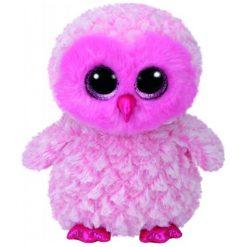 Przytulanki i maskotki: TY Maskotka Beanie Boos Twiggy – Różowa Sowa, 24 Cm
