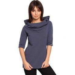 ABBY Bluza z krótkim rękawem i kapturem - niebieska. Czerwone bluzy damskie marki KALENJI, z elastanu, z krótkim rękawem, krótkie. Za 129,99 zł.