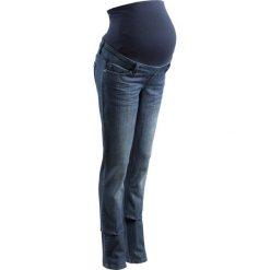 """Spodnie ciążowe: Spodnie dżinsowe ciążowe, proste nogawki (dł. T i N) bonprix ciemnoniebieski """"stone"""""""