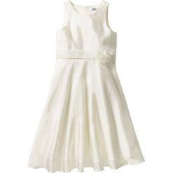Sukienki dziewczęce z falbanami: Sukienka na uroczyste okazje bonprix biel wełny