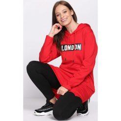 Bluzy damskie: Czerwona Bluza Communicative