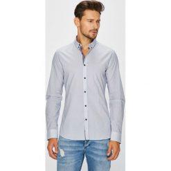 Medicine - Koszula Basic. Szare koszule męskie na spinki marki S.Oliver, l, z bawełny, z włoskim kołnierzykiem, z długim rękawem. Za 129,90 zł.