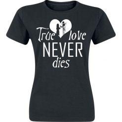 Miasteczko Halloween True Love Koszulka damska czarny. Czarne bluzki damskie Miasteczko Halloween, xxl, z nadrukiem, z okrągłym kołnierzem. Za 54,90 zł.