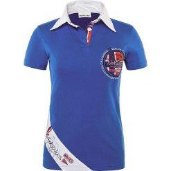 """Bluzki damskie: Koszulka polo """"Sailor"""" w kolorze niebieskim"""